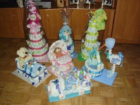 Darčeky z plienok:Plienkové torty!